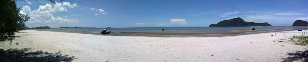 Panorama of Phu Noi  Beach, Pranburi, Thailand