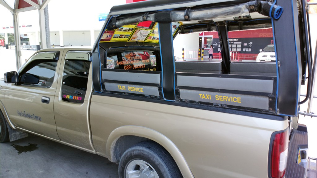 Typical Songtao type taxi in Hua Hin, Thailand