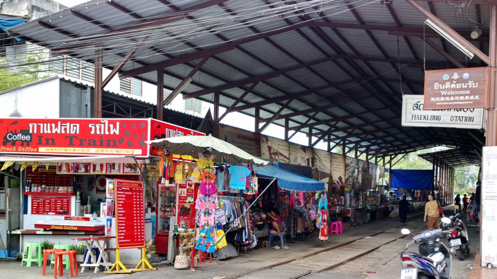Maeklong Train Station, Samut Songkhram, Thailand